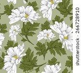 retro flower seamless pattern   ... | Shutterstock .eps vector #266728910