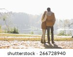 rear view of couple looking at... | Shutterstock . vector #266728940