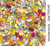 seamless pattern with ice cream | Shutterstock .eps vector #266729240