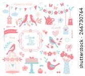 vector design elements for... | Shutterstock .eps vector #266730764