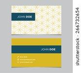 business card template  yellow... | Shutterstock .eps vector #266732654