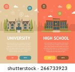 university building and high... | Shutterstock .eps vector #266733923