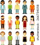people characters avatars set... | Shutterstock .eps vector #266734058