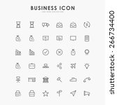 6x6 business line icons | Shutterstock .eps vector #266734400