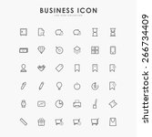 6x6 business minimal line icons | Shutterstock .eps vector #266734409