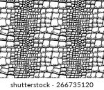 seamless crocodile leather | Shutterstock .eps vector #266735120