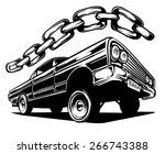 an illustration of a low rider... | Shutterstock .eps vector #266743388