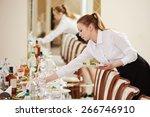restaurant catering services.... | Shutterstock . vector #266746910