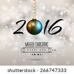 2016 new year and happy... | Shutterstock . vector #266747333