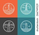 Vector Lighthouse Logo Design...