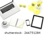 workplace  top view | Shutterstock . vector #266751284