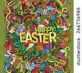 easter hand lettering and... | Shutterstock .eps vector #266756984