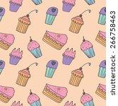 sweets seamless pattern | Shutterstock .eps vector #266758463