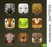 animal faces for app icons set... | Shutterstock .eps vector #266773310