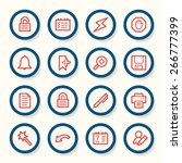 organizer web icons set | Shutterstock .eps vector #266777399