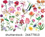 illustration with collection of ... | Shutterstock . vector #26677813