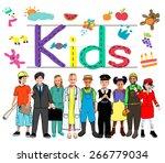 kids imagination handwriting... | Shutterstock . vector #266779034