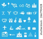love   wedding icons set  vector | Shutterstock .eps vector #266790428