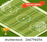 soccer game. football field and ... | Shutterstock .eps vector #266796056