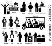 resort villa hotel tourist... | Shutterstock .eps vector #266800670