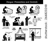 dengue fever preventions and... | Shutterstock .eps vector #266823248