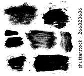 set of 8 vector brush stains  | Shutterstock .eps vector #266823686