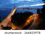 san francisco bay bridge and... | Shutterstock . vector #266825978