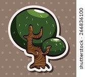 tree theme elements vector eps | Shutterstock .eps vector #266836100