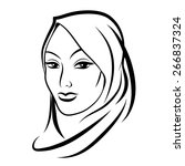 beautiful arab muslim woman.... | Shutterstock .eps vector #266837324