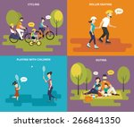 family with kids concept flat... | Shutterstock .eps vector #266841350