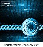 dark blue color light abstract... | Shutterstock .eps vector #266847959