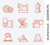 sewing and needlework icons ... | Shutterstock .eps vector #266848196