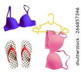 summer bikini concept with... | Shutterstock . vector #266857346