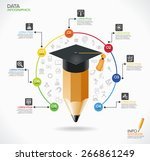 education infographic template. ... | Shutterstock .eps vector #266861249