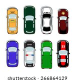 police car and taxi  sports car ... | Shutterstock .eps vector #266864129