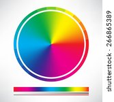 Color Chart Circle Vector