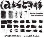 set of grunge background.... | Shutterstock .eps vector #266865668