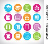 file and document icons set | Shutterstock .eps vector #266868509