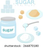 sugar cube brown sugar | Shutterstock .eps vector #266870180