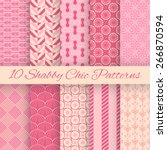 10 Shaby Chic Vector Seamless...