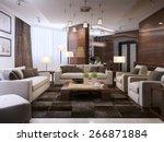 living room modern interior  3d ... | Shutterstock . vector #266871884