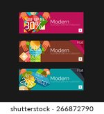 set of banners with stickers ... | Shutterstock .eps vector #266872790