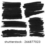 set of black marker paint... | Shutterstock . vector #266877023