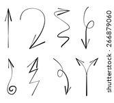 vector hand drawn arrows | Shutterstock .eps vector #266879060
