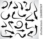 set of arrow icons  vector | Shutterstock .eps vector #266880569