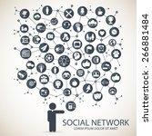 social network | Shutterstock .eps vector #266881484