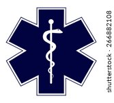 blue medical symbol of the... | Shutterstock .eps vector #266882108