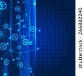 network color technology... | Shutterstock .eps vector #266882240