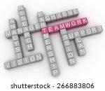 3d image teamwork  issues...   Shutterstock . vector #266883806