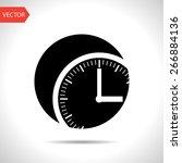 clock icon vector object...
